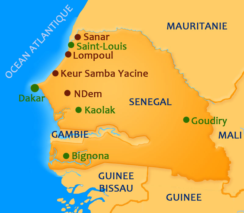 Senegal-Map